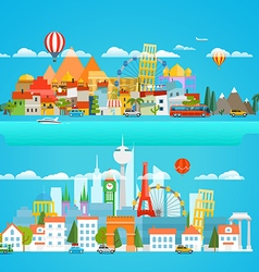 Different cityscapese vector image
