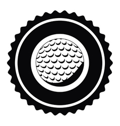 Isolated ball of golf design vector image