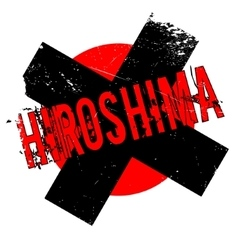 Hiroshima rubber stamp vector
