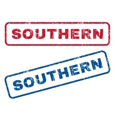 Southern rubber stamps vector