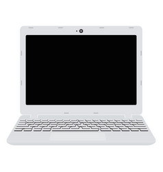 White laptop screen notebook in flat style vector