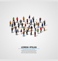 People crowd background vector