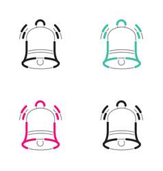 Christmas bell icon neon light vector
