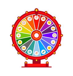 Wheel of fortune infographic elements flat vector