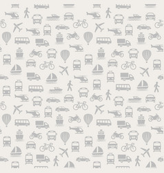 Transport seamless pattern background with icons vector