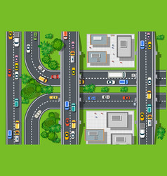 Top view of city map vector