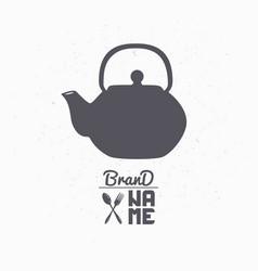 Teapot hand drawn silhouette vector