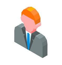 Person avatar 3d icon isolated vector