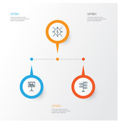 Project icons set collection of opportunity vector