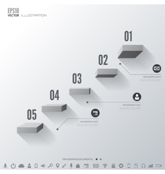 Business step infographic timeline background vector