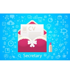 Character envelope office occupation with vector