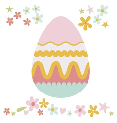 Easter floral design vector