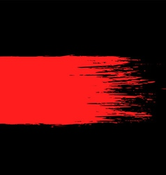 Smear of red paint on a black background vector