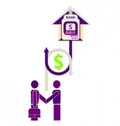 bank loan vector image