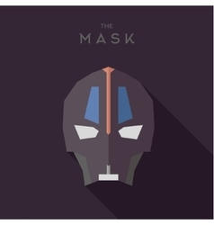 Mask into flat style graphics art vector
