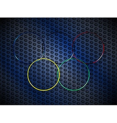 Metallic olympic rings background vector