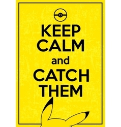 Poster with quote keep calm and catch them vector
