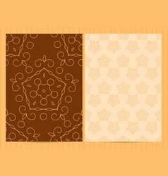 A4 format cards in golden colors template in vector