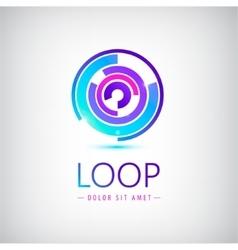 Abstract colorful shiny modern logo icon vector