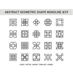 Abstract geometric shape monoline 29 vector