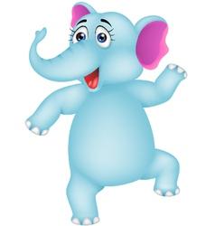 baby elephant dancing vector image vector image