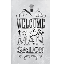 Barbershop poster coal vector