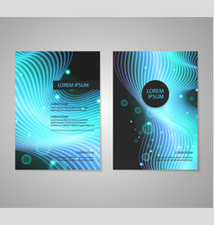 Brochure flyer layouts with abstract colorful vector