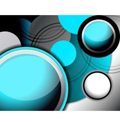 Circle modern light blue background vector