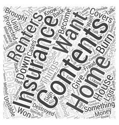 Contents insurance word cloud concept vector