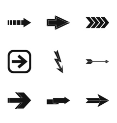 Cursor icons set simple style vector image
