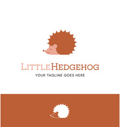 cute hedgehog logo vector image
