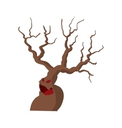 Halloween scary tree icon cartoon style vector image vector image