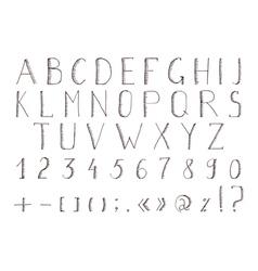 Hand drawn alphabet abc font alphabet vector image vector image