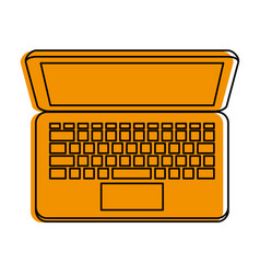 laptop computer topview icon image vector image