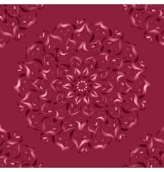 Mandala Abstract drawing with floral motif vector image vector image