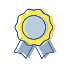 Medal symbol to winner of competition game vector