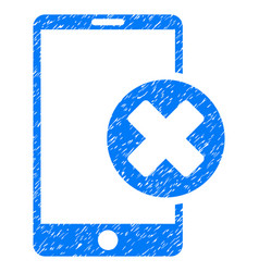 Phone cancel grunge icon vector