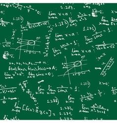 seamless math formulas background vector image