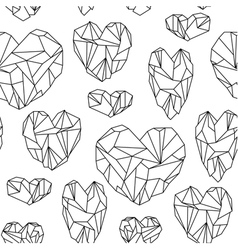 Seamless pattern made of mineral crystals vector