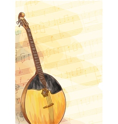 Slavic traditional musical instrument - Domra vector image