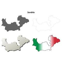 Sondrio blank detailed outline map set vector