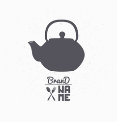teapot hand drawn silhouette vector image vector image