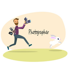 The photographer vector