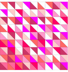 Tile pattern with pink triangle mosaic background vector