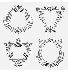 Tribal frame set vector image