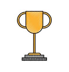 trophy award leader success business concept vector image