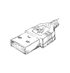 Usb sketch icon Gadget and technology design vector image vector image