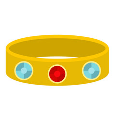 Vintage gold bangle icon isolated vector