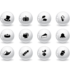 Web buttons thanksgiving icons vector image vector image