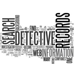 web detective text word cloud concept vector image vector image